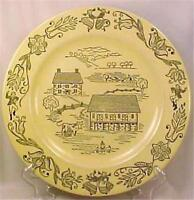 Royal Sebring Bucks County Dinner Plate Pennsylvania Dutch Farm Scenes Vintage