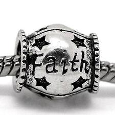 Faith Charm for European Snake Chain Charm Bracelet