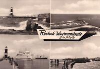 Rostock - Warnemünde , Die Mole , Ansichtskarte, 1981 gelaufen