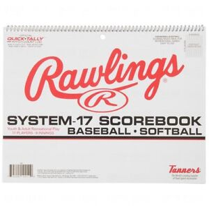Rawlings System-17 Baseball Softball Scorebook Score Book Official Quick-Tally