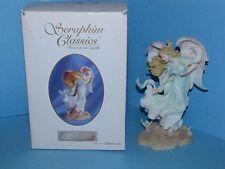 "Roman Seraphim Classics Christine The Footprints Angel Figurine Box COA 7""  J"