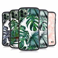 NATURE MAGICK TROPICAL PALM LEAVES ON MARBLE HYBRID CASE FOR APPLE iPHONES
