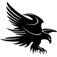 BLACK EAGLE FLYING CAR DECAL STICKER
