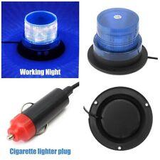 Car Magnetic LED Emergency Beacon Flash Strobe Warning Light 12V 15W Blue