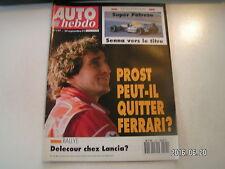 ** Auto Hebdo n°797 F1 GP de Portugal / Prost / Le Mans / Salon Francfort
