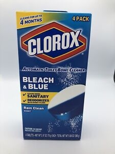 Clorox Automatic Toilet Bowl Cleaner Ultra Clean Toilet Tablets Bleach & Blue, 4