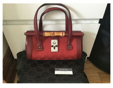 ### FROM GUCCI ## A RED MINI BAMBOO BAG ### NEVER USED ### VERY UNIQUE ###