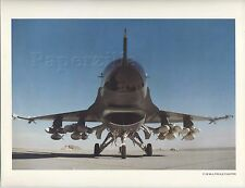 8.5 x 11 LITHO PRINT General Dynamics F-16 MULTI-ROLE FIGHTER Fighting Falcon