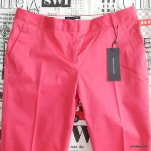 womens Eu 36 (UK 8) Tommy Hilfiger 'HAMPTON TAPERED' Smart Chino Trousers PINK