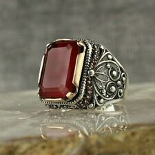 925 STERLING SILVER MEN'S JEWELRY SUPERIOR RED PARAIBA COPPER-BEARING TOURMALINE