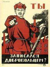 Propaganda política voluntarios Militar Unión Soviética Vintage Anuncio 1926pylv