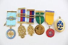 6 x Assorted Vintage Masonic Medals/Jewels Base Metal Inc Assistant, Steward Etc