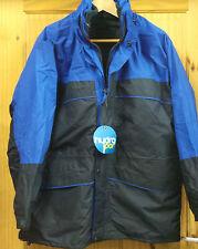 Men's Blue Waterproof Jacket Heavy Duty Fleece Coat - Size: M (THICK QUALITY)
