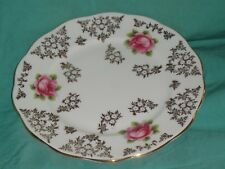Replacement Queen Anne Pink Roses Dessert Plate Bone China Made In England EC