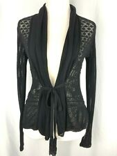 Jean Paul Gaultier MAILLE FEMME  Black Cardigan Sweater - Size S