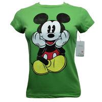 DISNEY Junior's T-shirt Top - MICKEY MOUSE - Happy Fun Face - Disneyland Parks