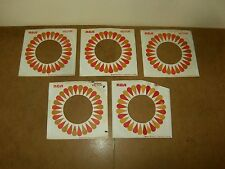5 X ORIGINAL FACTORY RECORDS SLEEVE 45 RPM -  RCA  VICTOR  (118)