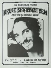 Bruce Springsteen and The E Street Band Winterland Concert Poster 1975
