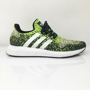 Adidas Mens Swift Run EF5434 Black Volt Running Shoes Lace Up Low Top Size 9
