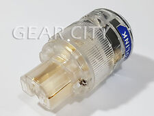 ppc10 Gold IEC C13 Mains Power Plug Female Copper Connector Cable Clear HiFi