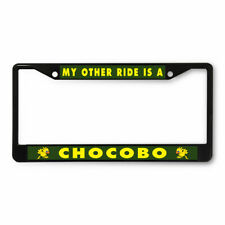 License Plate Frame Vinyl Insert My Other Ride Is A Chocobo Bird Characters