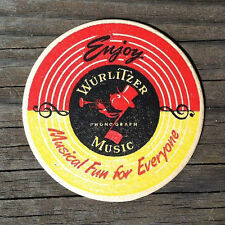 10 Original WURLITZER DRINK BAR PUB Coaster Johnny One Note 1940s WHOLESALE LOT