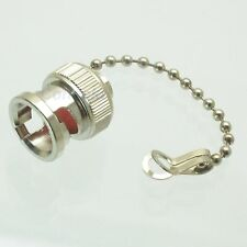 1pce Dust cap with chain for BNC female RF connector Zinc Alloy