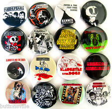 PETER & THE TEST TUBE BABIES SUBHUMANS SLAUGHTER & THE DOGS Button Badges Pins