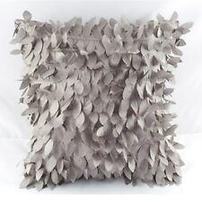 43x43 Taffeta Raised Leaf Couch Cushion Cover Home Decor Sofa Throw Pillow Case