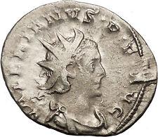 VALERIAN I 257AD RARE Silver Ancient Roman Coin Nude Sol Sun God Cult   i34140