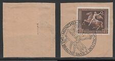Deutsches Reich 671 y gestempelt geprüft Briefstück