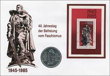 D-030 DDR-Numisbrief 40 Jahre Befreiung vom Faschismus