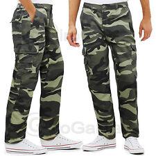 Pantalone Uomo Mimetico Tasconi Laterali Elastico in Vita Militare GIROGAMA 3802
