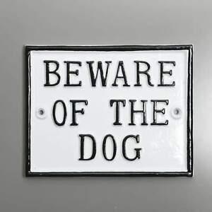 Beware Of The Dog Large Rectangular Sign