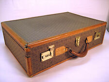 Hartmann WINGS Large Luggage Belting Leather Trim Suitcase Woodbox Pullman