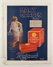 Mary Garden ADVERT Vogue magazine back cover 1917/19 Rigaud BERGER Perfume PARIS