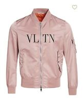Men's Valentino Pink Bomber Jacket Coat Summer Fall Size 46 (S/M) SOLD OUT!!