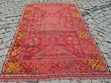 Vintage Anatolian Nomads Rug 44'' X 70'' Turkish Low Pile Bohemin Nomads Rug