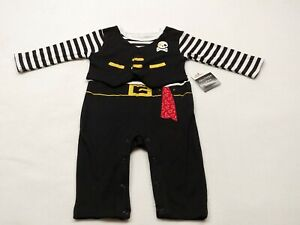 6-9 Months 1 Piece Halloween Pirate Coverall Outfit Set Crawler Costume NEW
