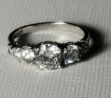 Womans 925 sterling silver cubic zirconia ring Size 6 Engagement Anniversary