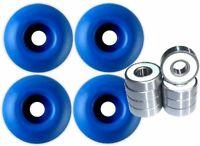 Blank Skateboard Wheels With ABEC 9 Bearings 50mm Blue