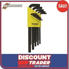 Bondhus L-Wrench Long Length Hex Key Set Imperial 13 Piece - Made in USA 12137