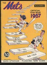 1967 MLB Baseball New York Mets Revised Yearbook EXMT