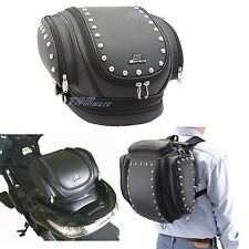 Motorcycle Saddle Bags Luggage Studded PU Leather Mustang 13321 Motorbike Bag
