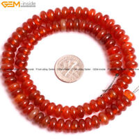 Natural Rondelle Agate Heishi Spacer Loose Beads For Jewelry Making Strand 15''