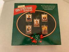 2000 Mr. Christmas - String of Photo Frames - with Museum Lights - 5 Frames