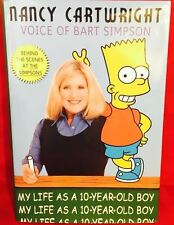 NANCY CARTWRIGHT Signed Autograph 1st Ed Book My Life As A 10 Year Old Boy JSA