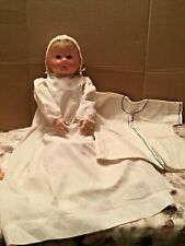 Antique American 23� Marked Large Chase Baby Life Size Baby Doll Antique Gown