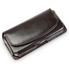 Genuine Leather Cellphone Belt Pouch Case Cover For iPhone 12 Pro Max Samsung