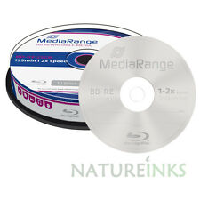 10 Mediarange Regrabable Blu-Ray BD RE 25 GB 2x Discos MR501 soporte